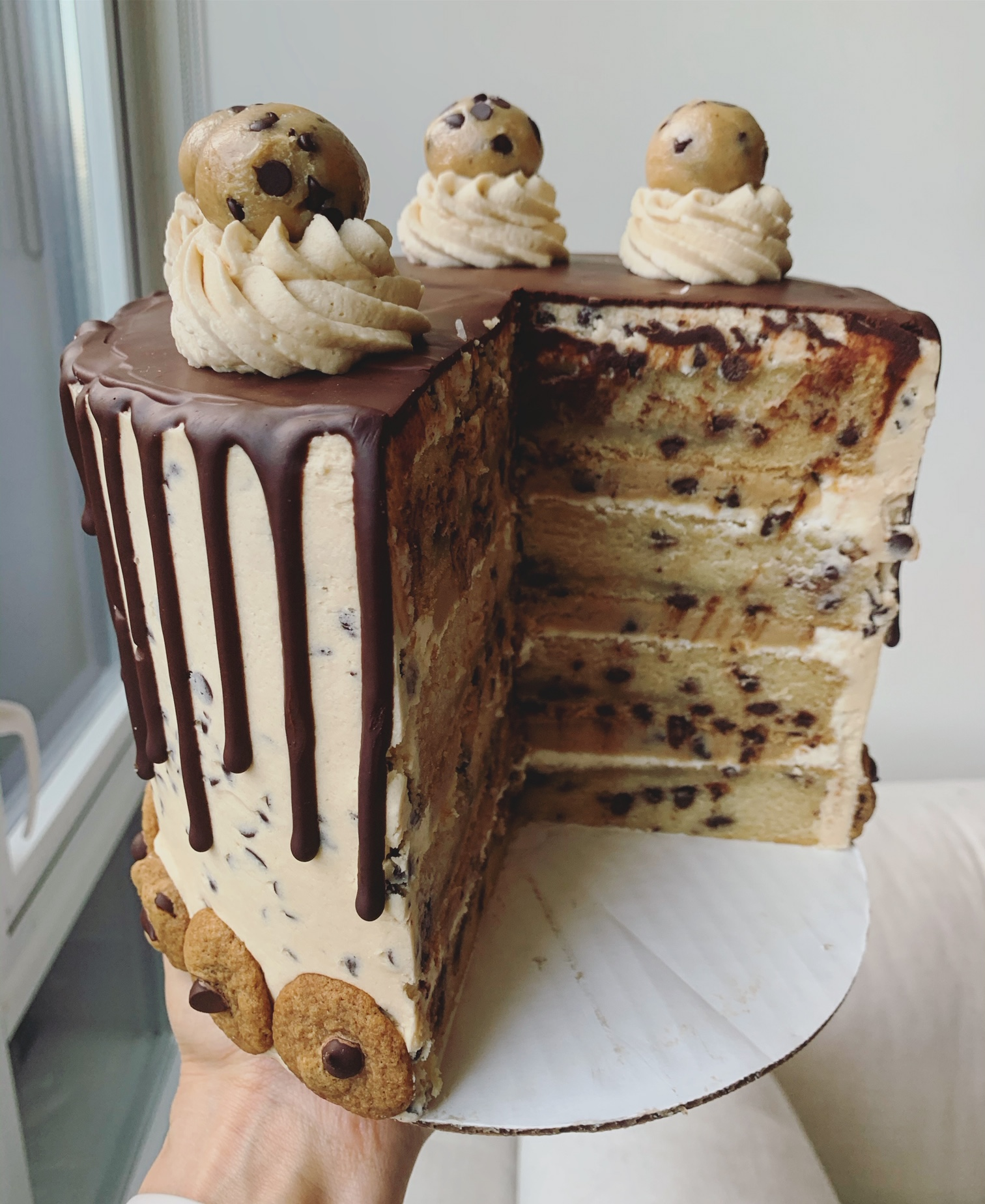 chocolate chip cookie dough cake erin ireland 5