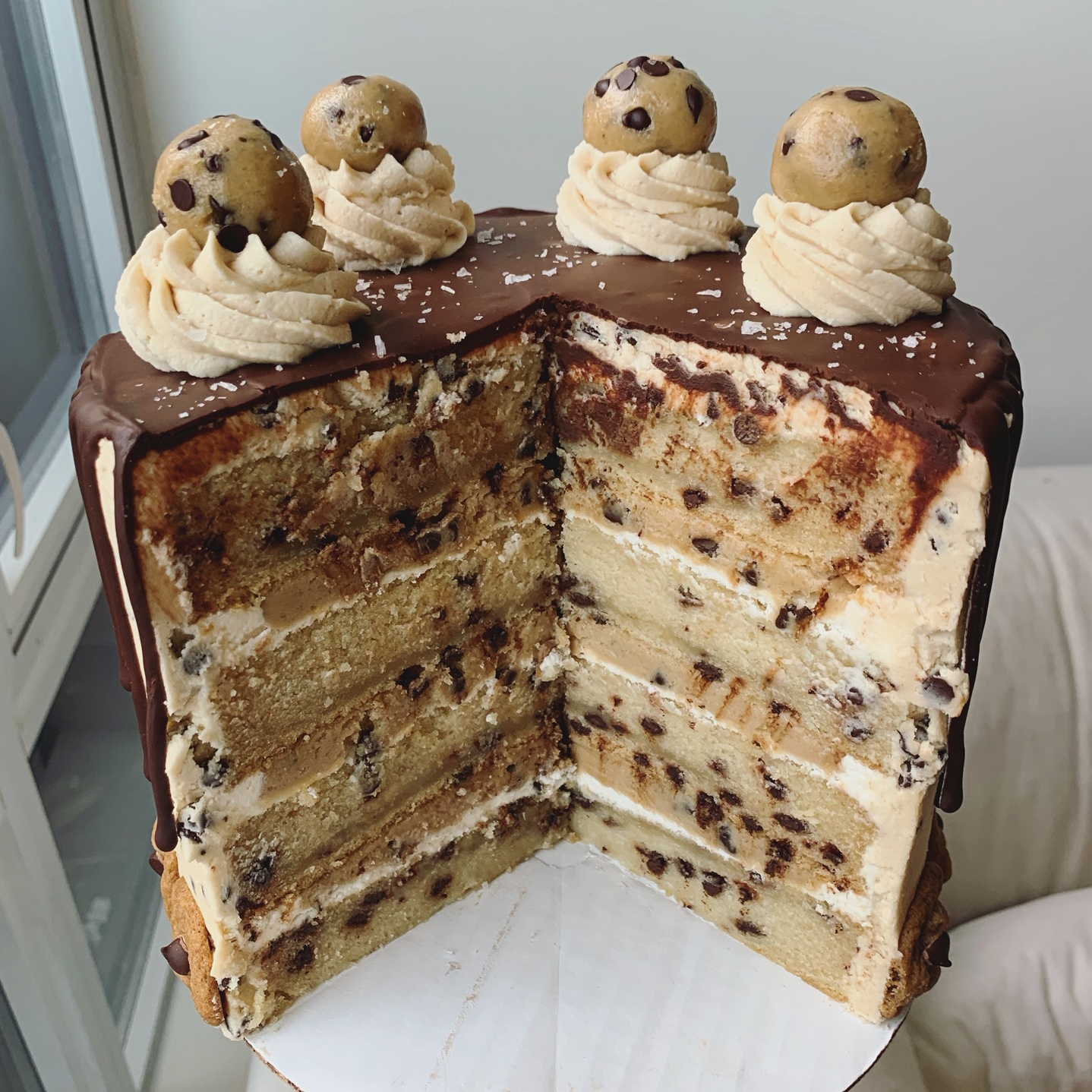 chocolate chip cookie dough cake erin ireland 2