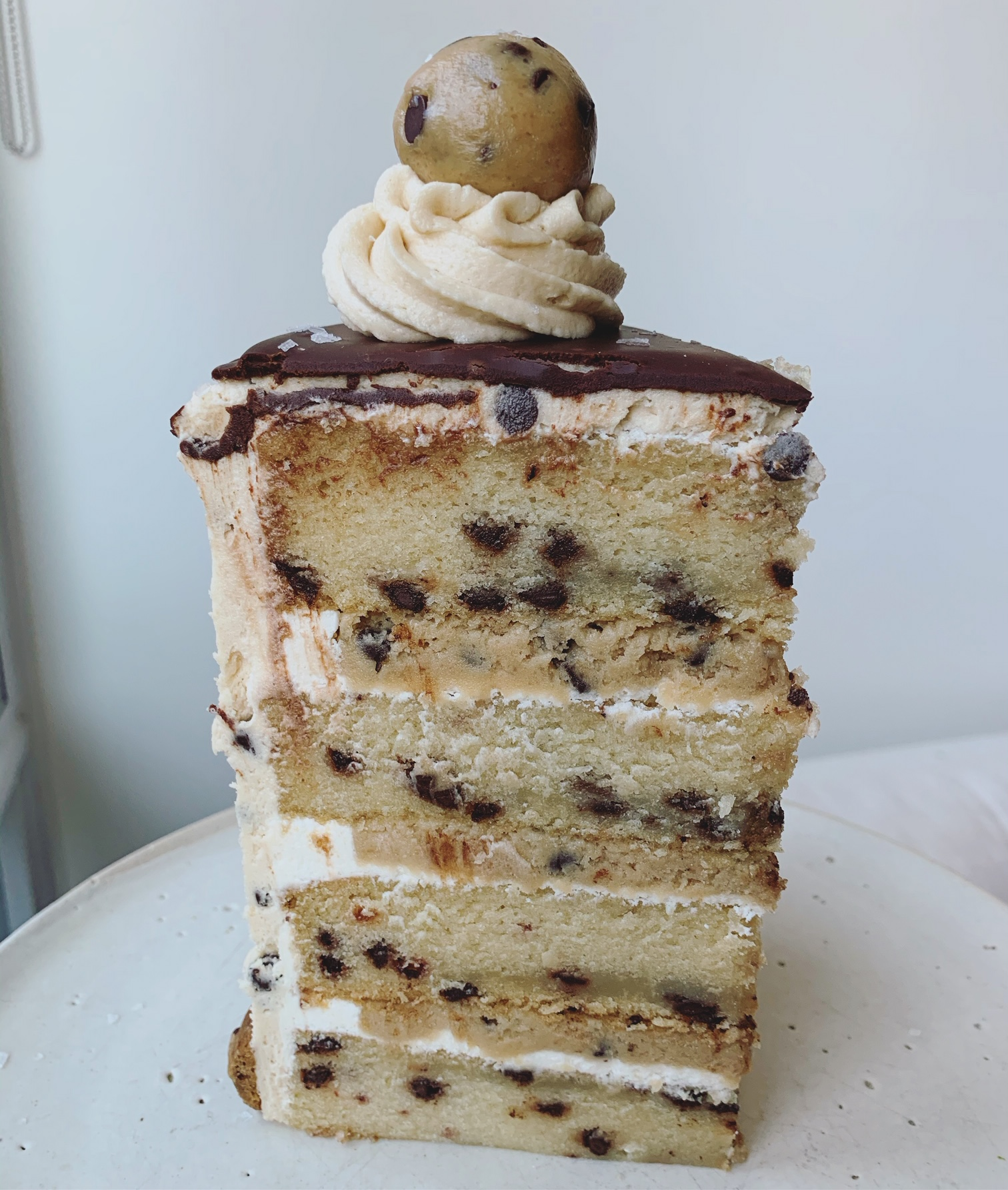 chocolate chip cookie dough cake erin ireland 4