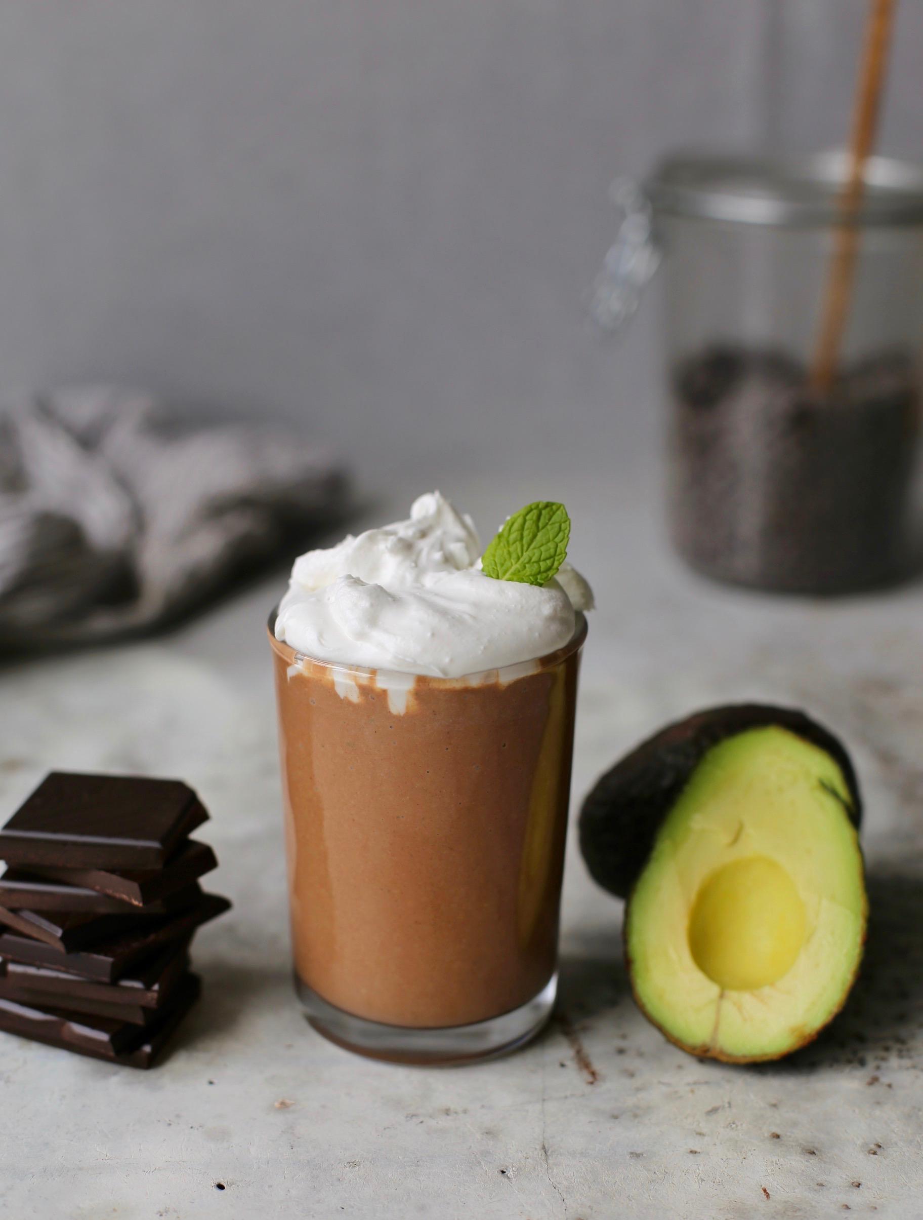 chocolate mint avocado smoothie