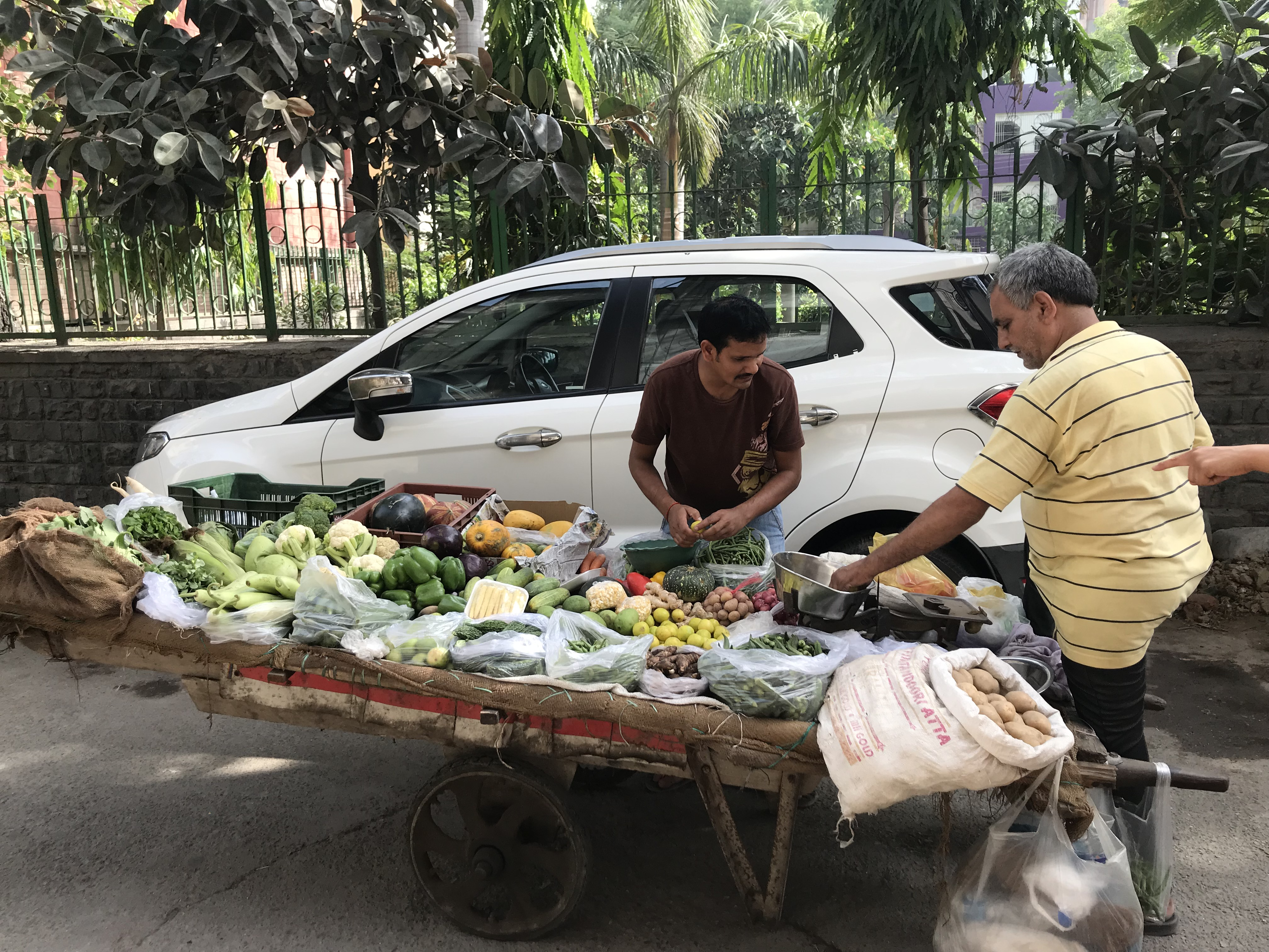 Delhi India vegetable stand