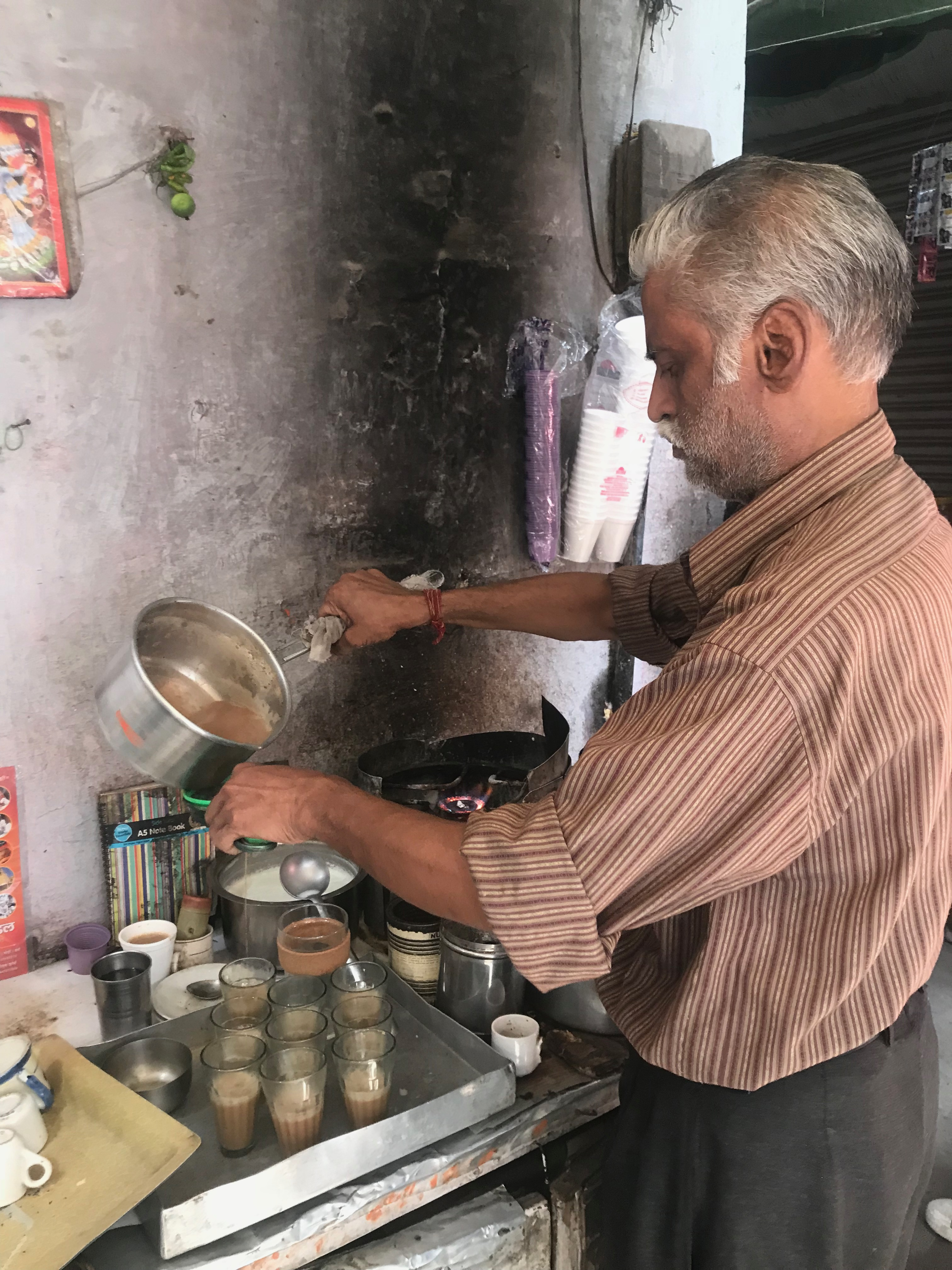 chai wallah delhi india mr shyam