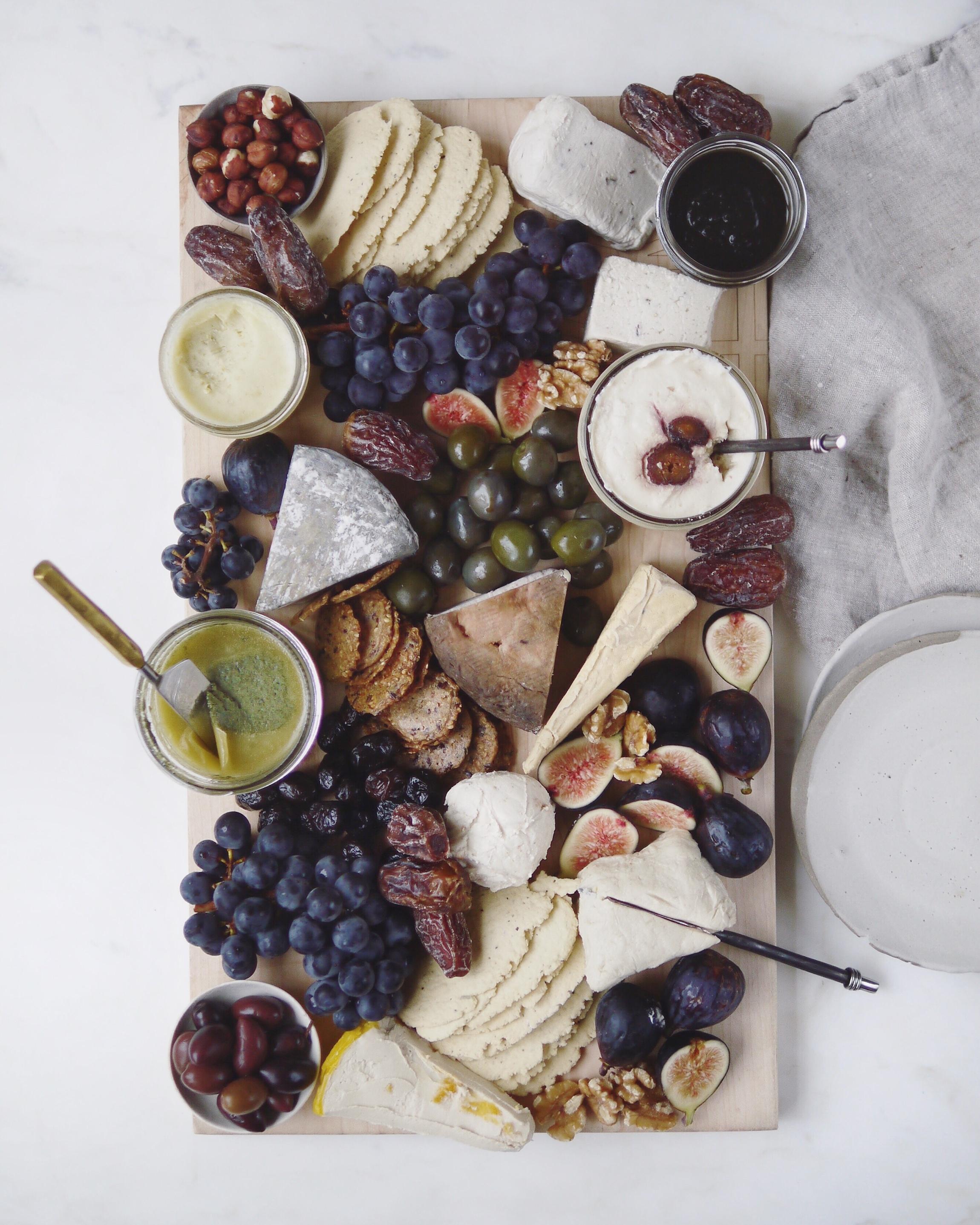 Nut cheese platter