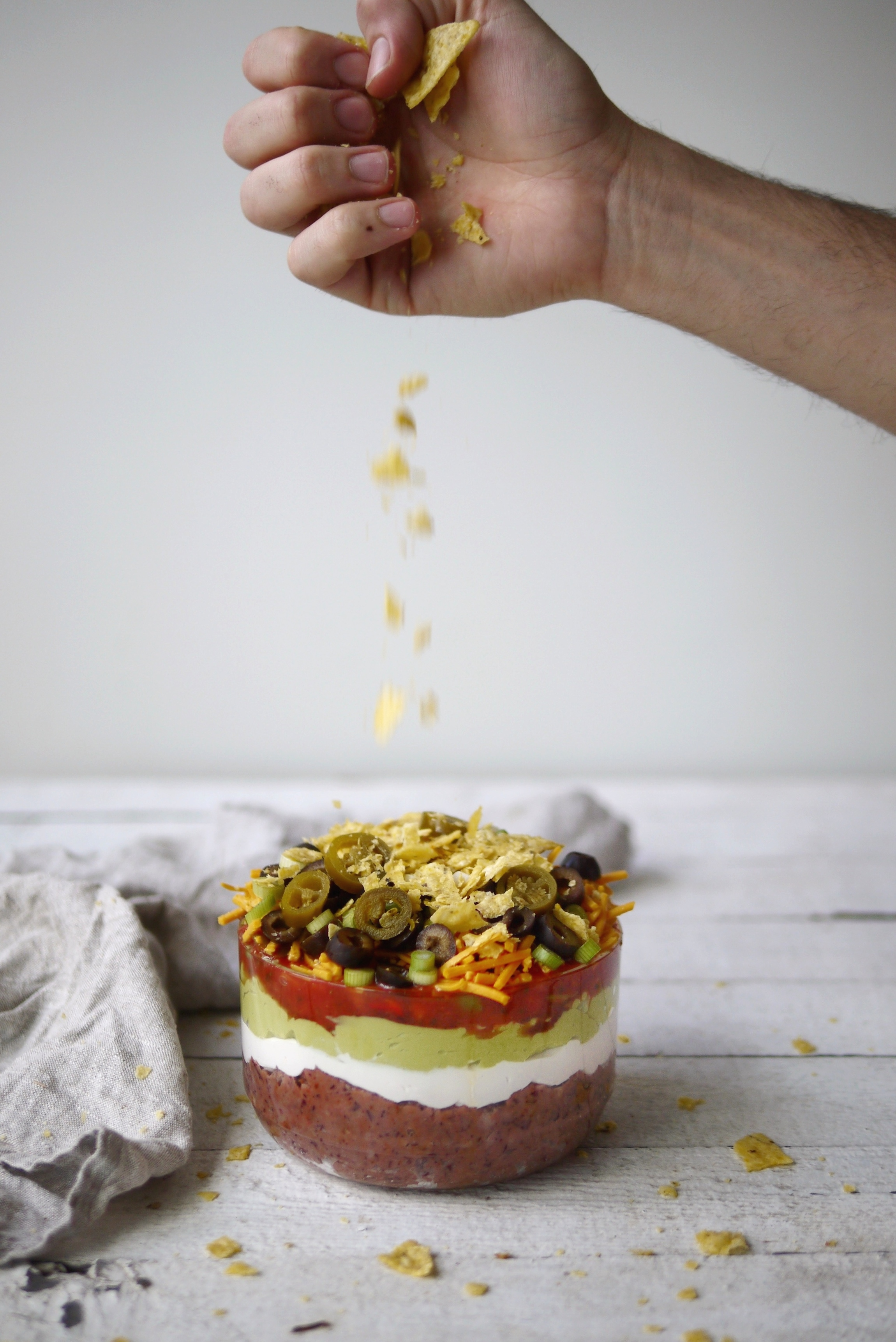 seven layer dip vegan