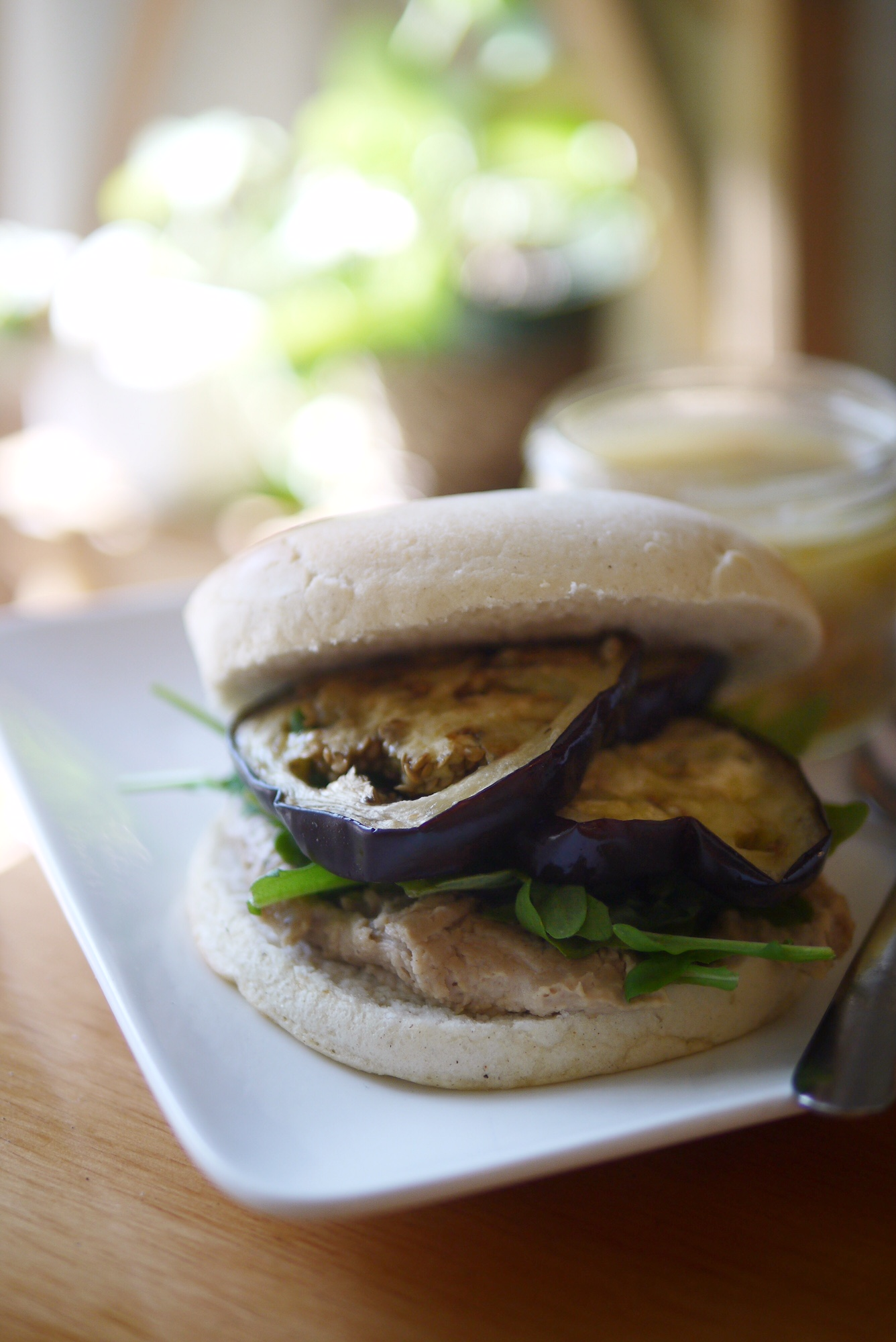 Smallflower cafe eggplant sandwich