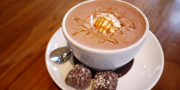 Thomas Haas hot chocolate and sparkle cookie