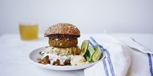 All Bran Veggie Burger