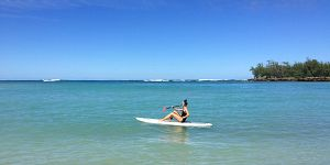 stand up paddle boarding at turtle bay resort