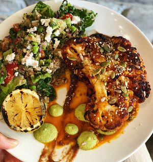heirloom cauliflower steak
