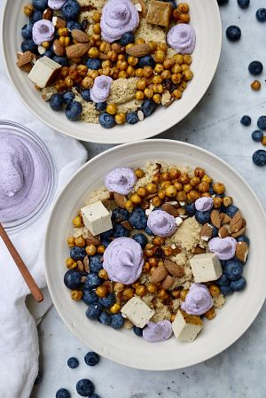 blueberry bowl vegan ricotta