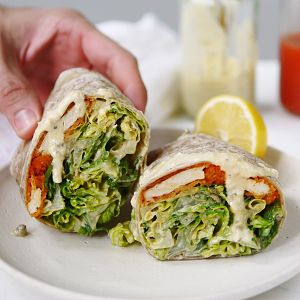 Vegan Chicken Wraps