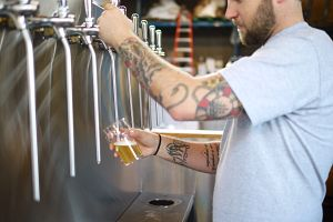 Postmark Brewing Beer Pour
