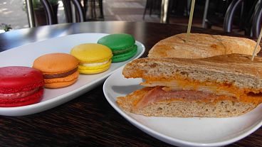 Thierry Macarons and Sandwich