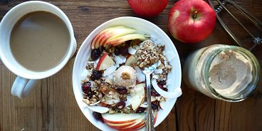 BC apples and oatmeal