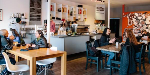 Kafka Coffee and Tea Interior